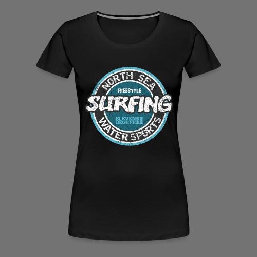 Mer du Nord Surf (à l'ancienne) - T-shirt Premium Femme