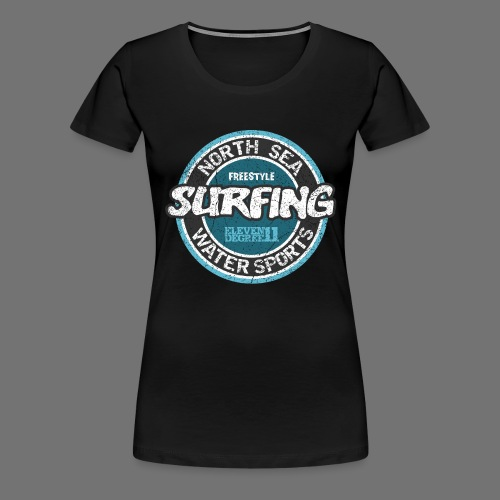 North Sea Surfing (oldstyle) - Dame premium T-shirt