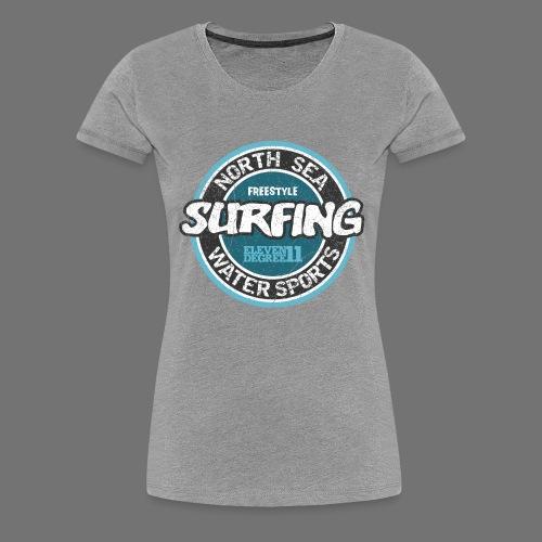 North Sea Surfing (oldstyle) - Women's Premium T-Shirt