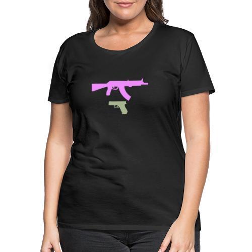 PINK GUN - Koszulka damska Premium