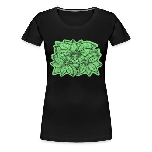 Green Man for Pagan Global Warming/Climate Change - Women's Premium T-Shirt