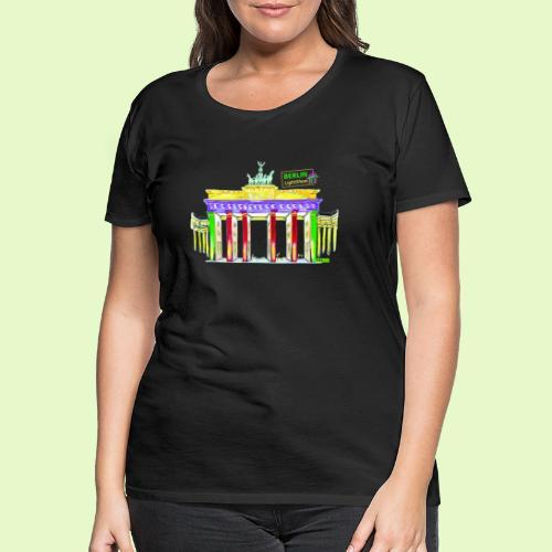 Berlin/Brandenburger Tor/PopArt/BerlinLightShow - Frauen Premium T-Shirt