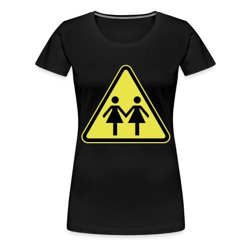 ACHTUNG LESBEN POWER! Motiv für lesbische Frauen - Frauen Premium T-Shirt