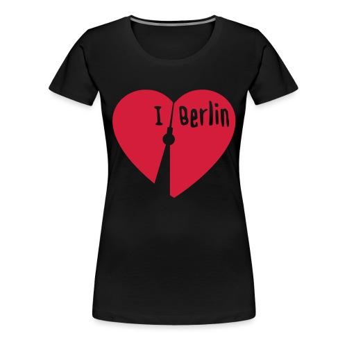 I love Berlin (1-farbig) - Frauen Premium T-Shirt