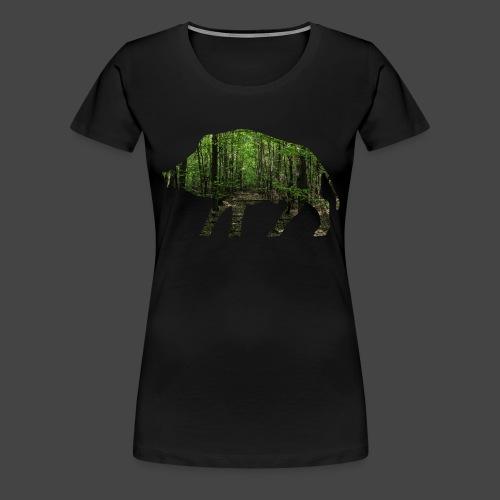 Waldtapeten-Sau-Shirt für Jäger/innen - Frauen Premium T-Shirt