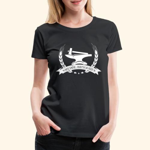 Smedöl Brygghus Logga Vit - Premium-T-shirt dam