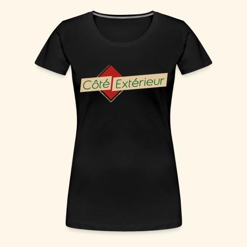 logo cote exterieur - T-shirt Premium Femme
