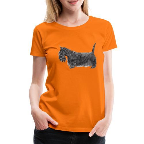 skotsk terrier ub - Dame premium T-shirt
