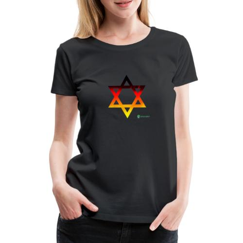 deutschland davidstern transparent - Frauen Premium T-Shirt