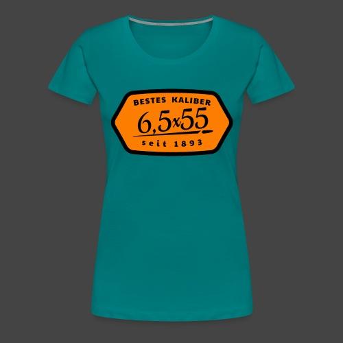 Kalibershirt 6,5x55 Jägershirt Vintage Style - Frauen Premium T-Shirt