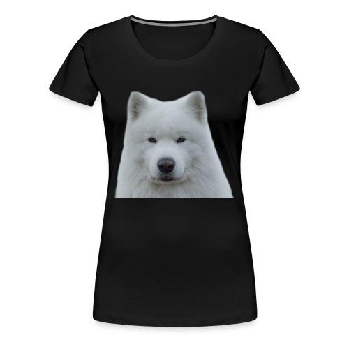 Hvit samojed - Premium T-skjorte for kvinner