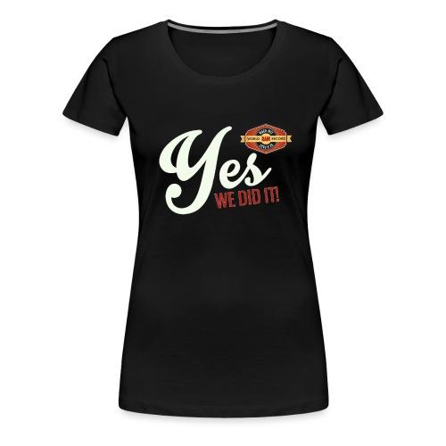 YES-creme-nappo - Frauen Premium T-Shirt