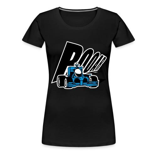 Cooler blauer Rennwagen - Frauen Premium T-Shirt