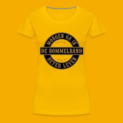bb logo rond shirt - Vrouwen Premium T-shirt