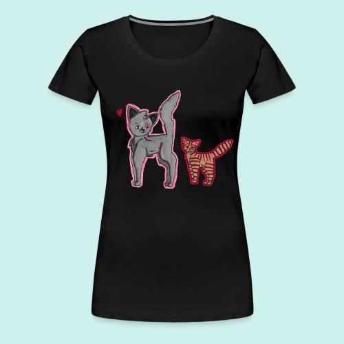cat and kitten - Naisten premium t-paita