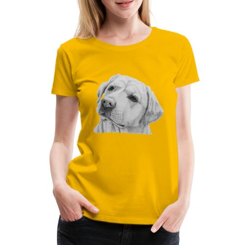 labrador retriever yellow - head - Dame premium T-shirt