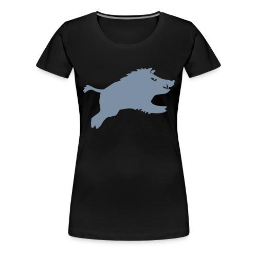 Schwein springt 2015 - Frauen Premium T-Shirt
