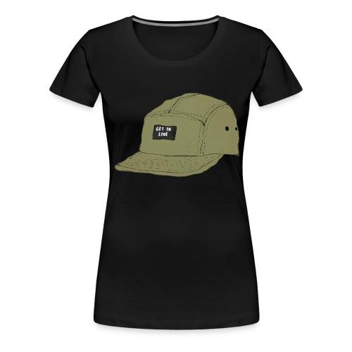 5 panel Get in line hoodie - Women's Premium T-Shirt