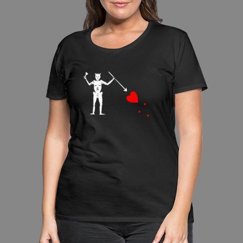 Edward Teach Flag - T-shirt Premium Femme
