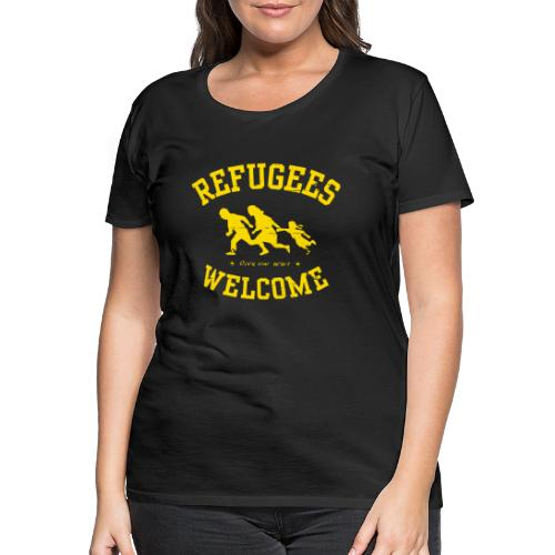 Refugees Welcome - Open your heart - Frauen Premium T-Shirt