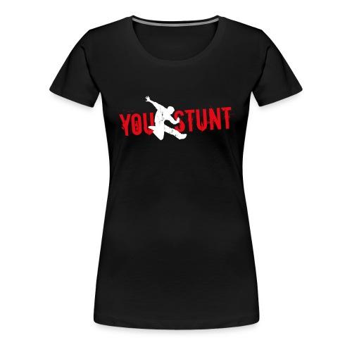 Youstunt Logo Digitaldruck ohne Claim Weiß Rot - Frauen Premium T-Shirt