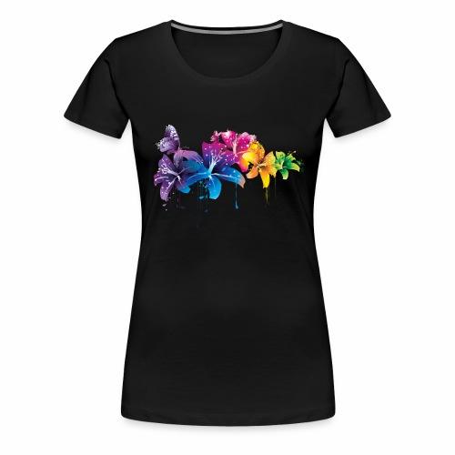 Flowers Vectors PNG - Camiseta premium mujer
