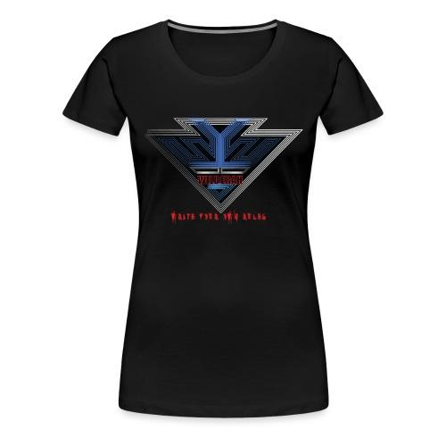 Wild Erah Logo BLACK NAVYBLUE png - Women's Premium T-Shirt