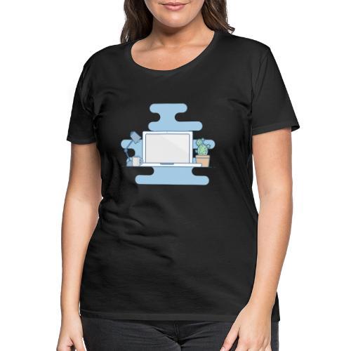 Arbeitstisch - Frauen Premium T-Shirt