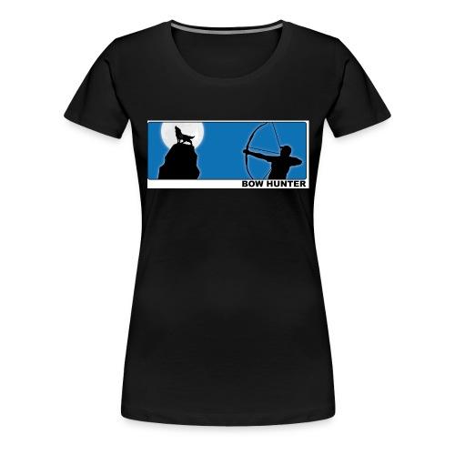 3d_wolf_recurve - Frauen Premium T-Shirt