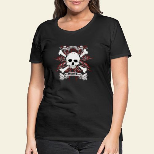 skull - Dame premium T-shirt