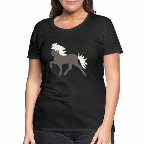 Windfarbenes Islandpferd - Frauen Premium T-Shirt