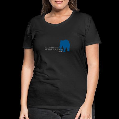 Wilhelma lPd weiss blau elefant - Frauen Premium T-Shirt