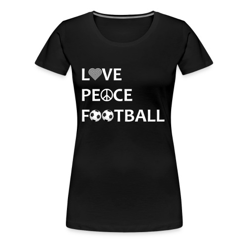 Football Shirt Love Peace Football black - Women's Premium T-Shirt