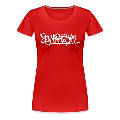 Zonarisk Logo Blanc - T-shirt Premium Femme