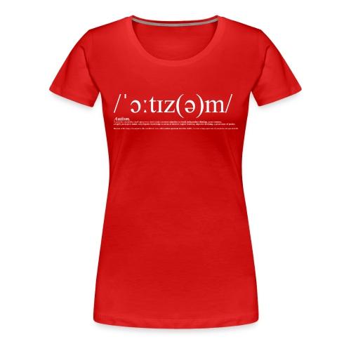 AUTISM WHITE - Women's Premium T-Shirt