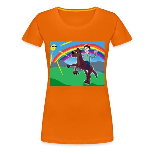 Regnbue Strandfisk Musematte - Premium T-skjorte for kvinner