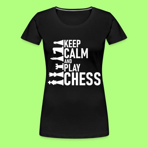 chess Spiel shirt Schule school - Frauen Premium T-Shirt