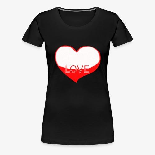 Love1 - Camiseta premium mujer
