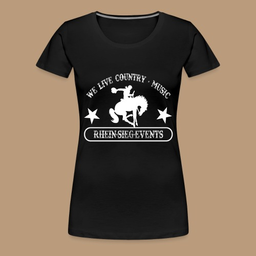 2We_live_Country_Music.png - Frauen Premium T-Shirt