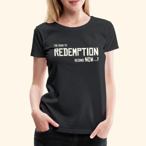 Wild West Game Text Design - Women's Premium T-Shirt