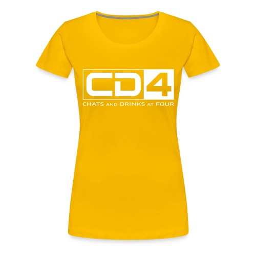 cd4 logo dikker kader bold font - Vrouwen Premium T-shirt