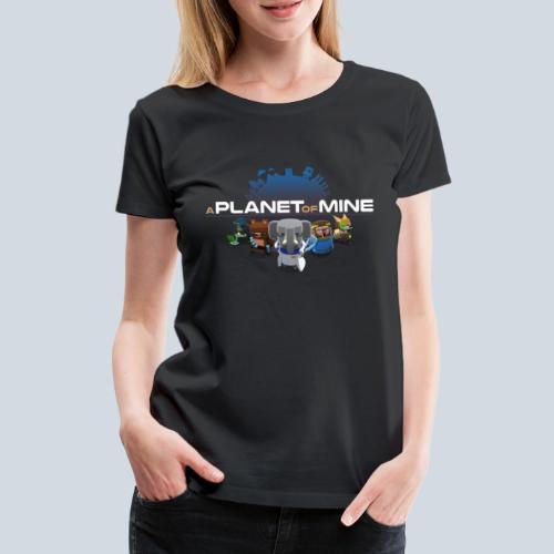 logo planetofmine dark HD - T-shirt Premium Femme
