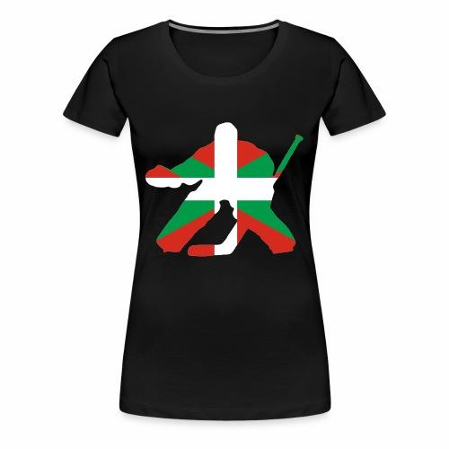 goalie et basque - T-shirt Premium Femme