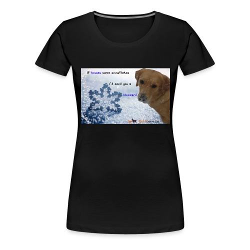 Golden Retriever tra i fiocchi di neve - Maglietta Premium da donna