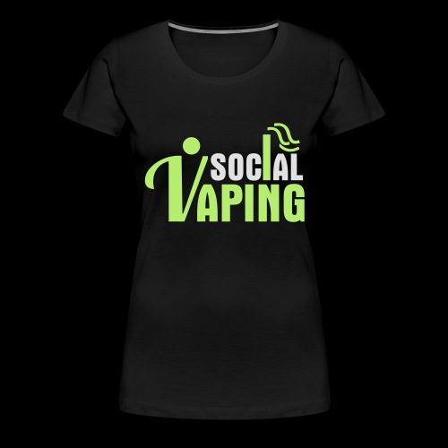 SOCIAL VAPING LOGO - Women's Premium T-Shirt