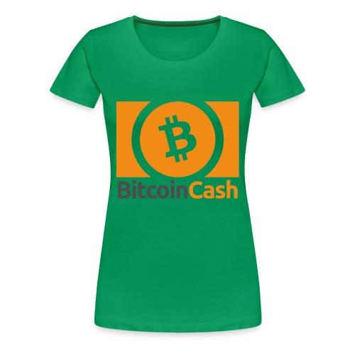 Bitcoin Cash - Naisten premium t-paita