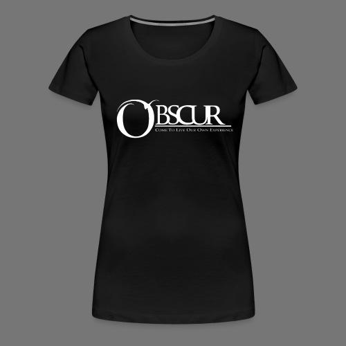 Grand logo Obscur - T-shirt Premium Femme