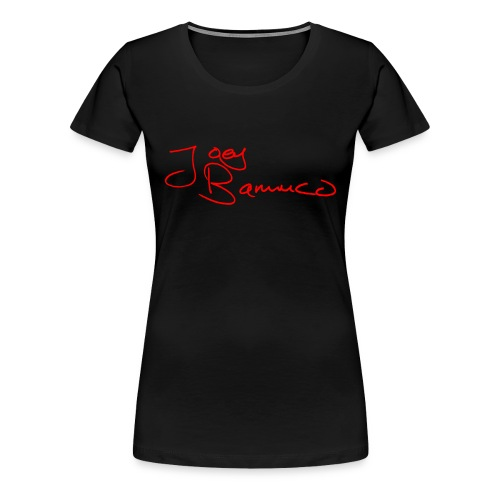 JoeyBamuco Red Signature - Naisten premium t-paita