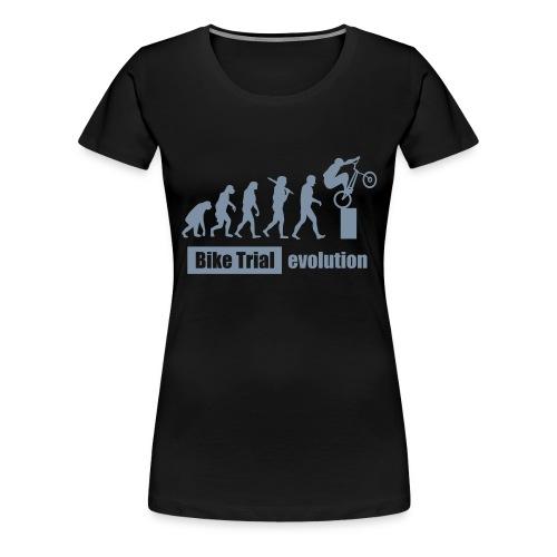 Bike Trial Evolution, mit Text - Women's Premium T-Shirt