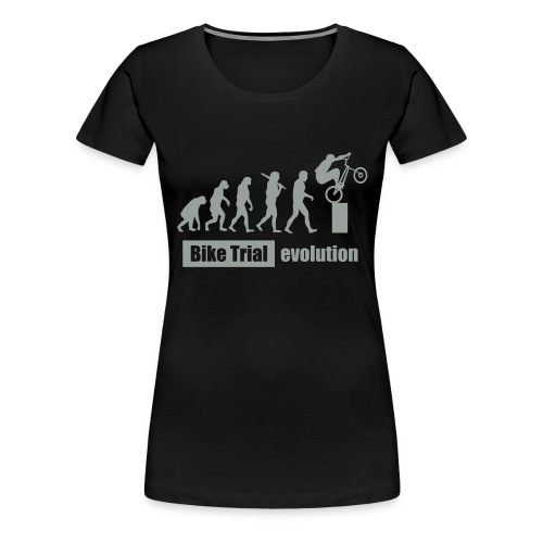 Bike Trial ewolucja, z tekstem - Women's Premium T-Shirt